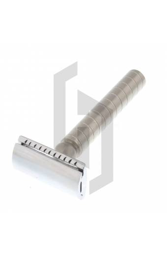 Stainless Safety Razor with Closed Comb Circle Knurling