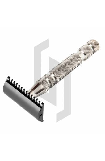 Stain Chrome Safety Razor with Open Comb