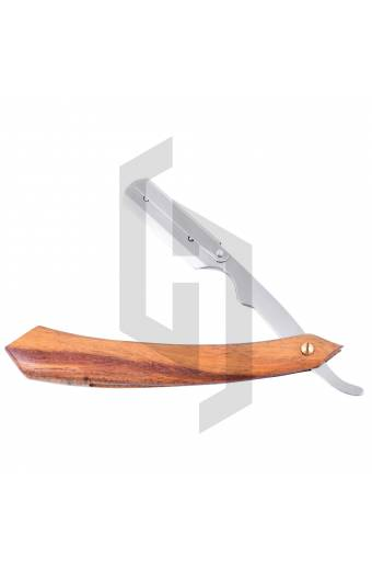 Straight Shaving Razor Natural wood Handle