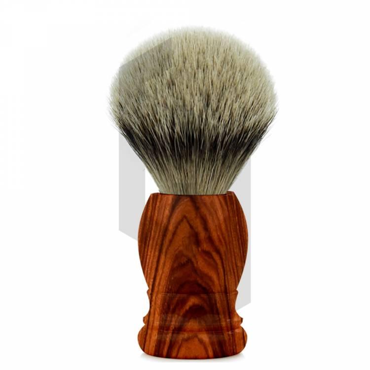 Aluminium Shaving Brush with Wooden Colors