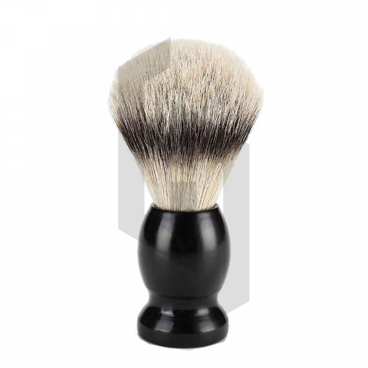Shaving Brush Black Bamboo Handle