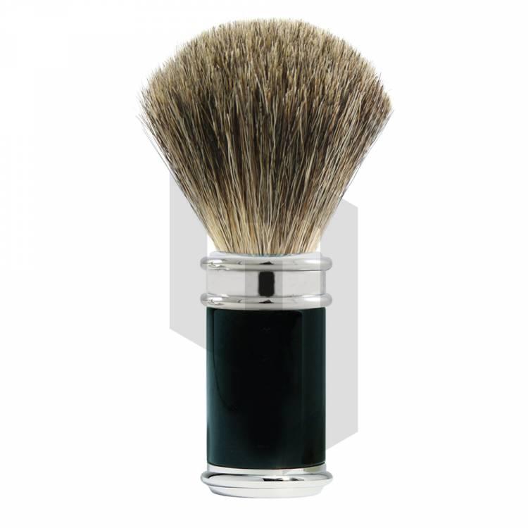 Black And Chrome Badger Shaving Brush