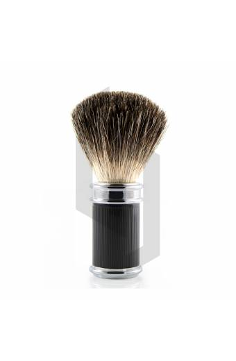 Black Shaving Brush Lined
