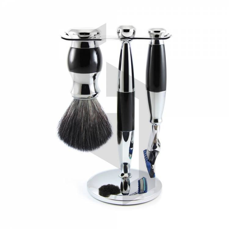 Fusion Chrome Plated with Colors Shaving Set