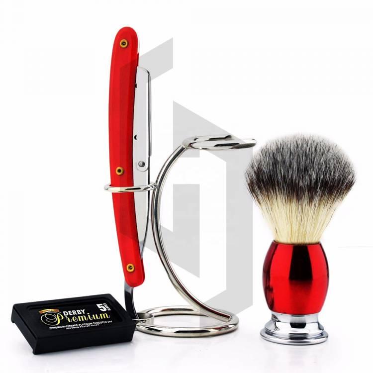 Red Straight Razor Shaving Set