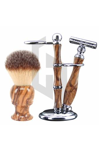 Wooden Design Shaving Sets