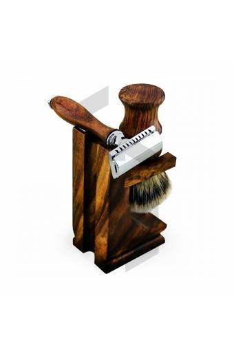 WOODEN BOX WITH SHAVING SET
