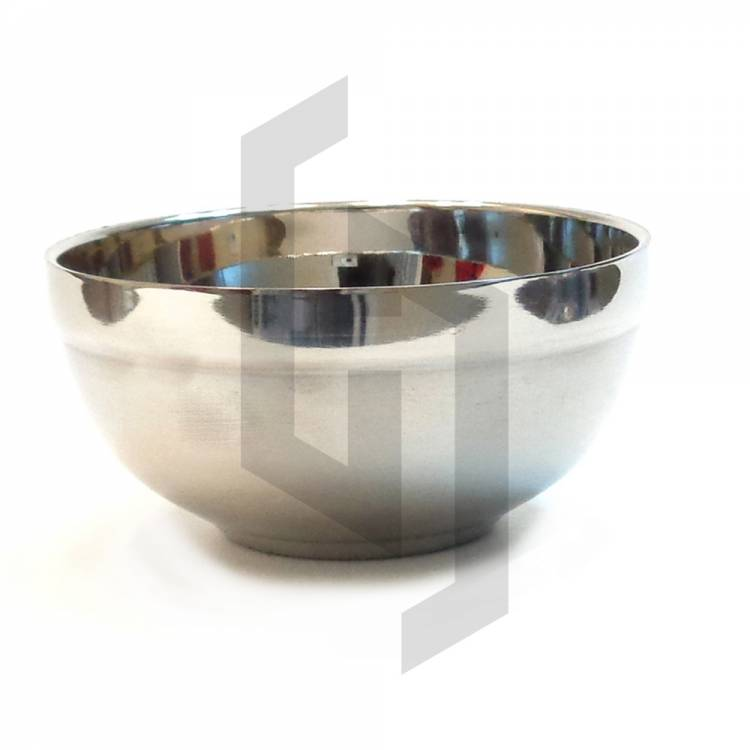 Round Shaving Bowl Stainless Steel