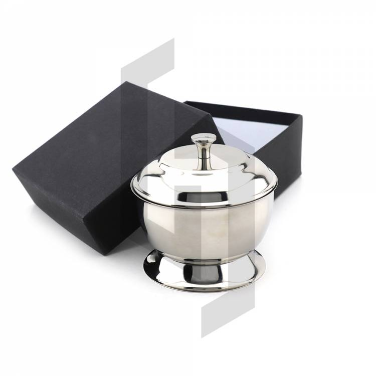 Stainless Steel Shaving Bowl with Cover
