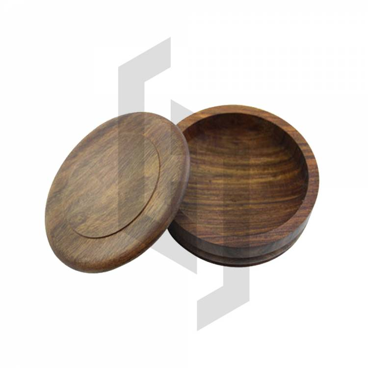 Handcrafted Wooden Shaving Bowl With Lid