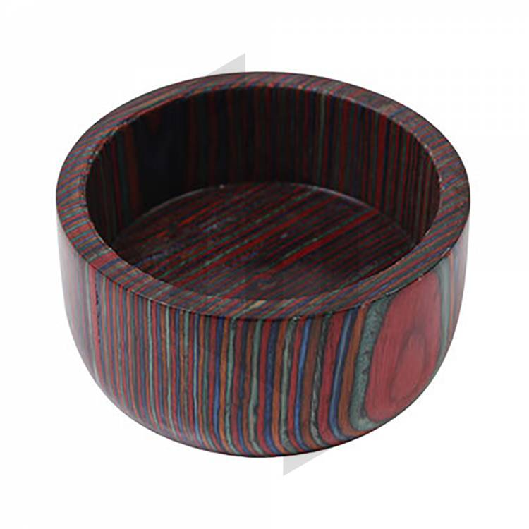 Handcrafted Multi Color Wood Wet Shaving Bowl