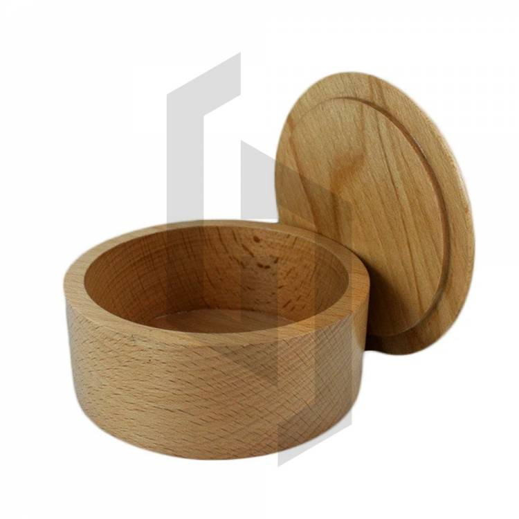 Handcrafted Wood Wet Shaving Soap Bowl with Lid
