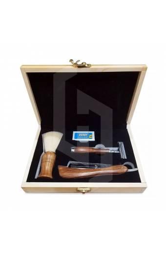 Shaving Set Wooden Gift Box for Men's