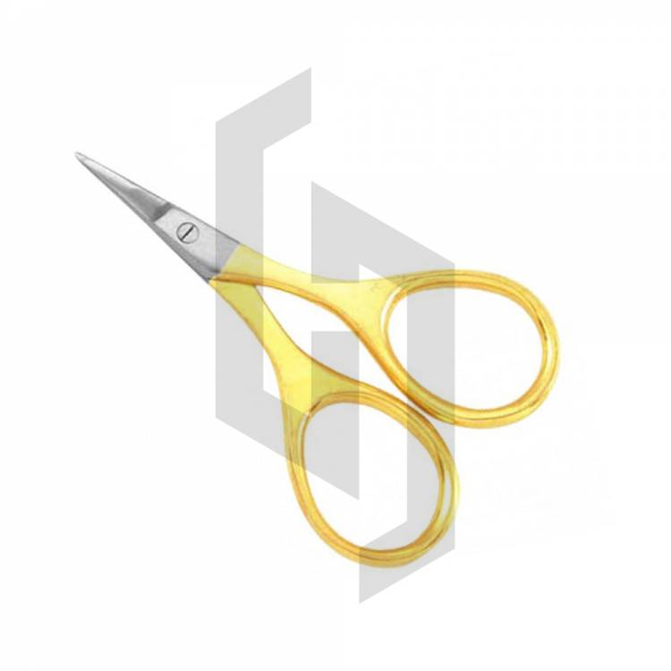 Micro Blade Large Ring Gold Nail Scissor