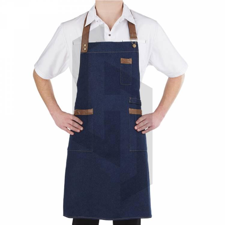 Canvas Denim Chef Aprons for Kitchen BBQ Cooking Kitchen Apron for Women Men Aprons