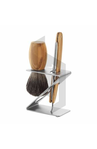 SHAVING KIT SET WITH Z-SHAPED STAND